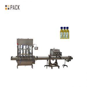 Otomatik 1-5L piston şişe kavanoz madeni motor yağı sıvı dolum makinası